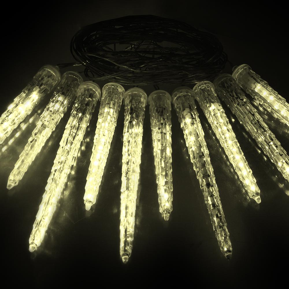 Гирлянда-конструктор электрическая Vegas Сосульки, 40 ламп, длина 2 м, свет: теплый. 55036 гирлянда тдм sq0361 0026 сосульки падающий белый свет 30см 8шт в комплекте 3 8м