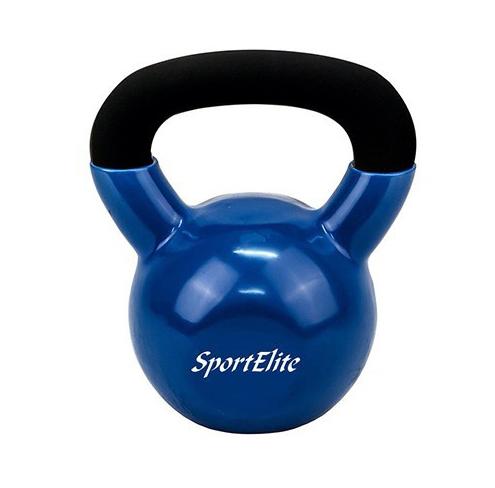 Гиря чугунная обрезиненная SportElite 8 кг ES-0287 гиря iron head медведь 32 0 кг
