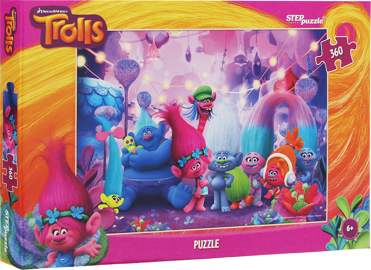 Step Puzzle Пазл Trolls 96048 пазл step puzzle step puzzle рапунцель 360 элементов