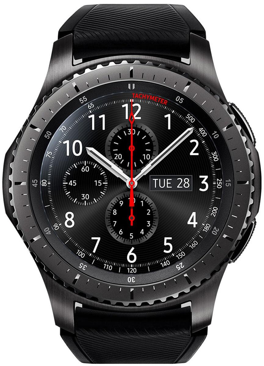 Умные часы Samsung Gear S3 Frontier, темно-серый смарт часы samsung galaxy gear s3 frontier sm r760 1 3 титан матовый черный [sm r760ndaaser]