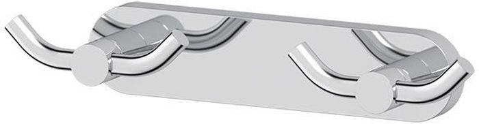 Планка для ванной Artwelle Harmonie, с двумя двойными крючками. HAR 008HAR 008Планка для ванной Artwelle Harmonie выполнена из высококачественной латуни и крепится к стене при помощи шурупов (входят в комплект). Хромовое покрытие придает изделию яркий металлический блеск и эстетичный внешний вид. Планка с двумя двойными крючками имеет классический дизайн, аккуратна, компактна и привлекательна. Аксессуар позволяет размещать максимальное количество предметов при минимальном количестве необходимых для крепления отверстий в стене. Имеет усиленное крепление, которое обеспечивает дополнительную прочность конструкции. Торговая марка Artwelle принадлежит компании Santech Allianz Gmbh. Универсальный дизайн аксессуаров позволяет дополнить практически любой интерьер, а широкий ассортимент предоставляет свободу выбора. Надежность конструкции, профессиональное крепление и прочность покрытия позволяют использовать изделия не только в домашних условиях, но также и в общественных местах, включая отели. В производстве коллекций используются материалы высокого качества, что обеспечивает долговечность изделий.