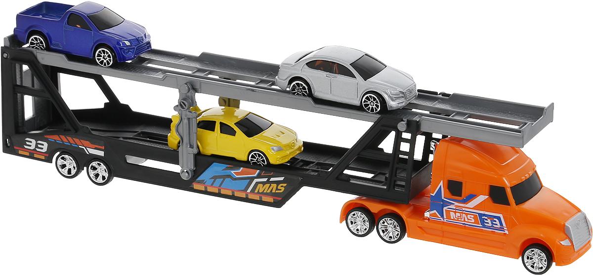 MotorMax Набор машинок Car Transporter