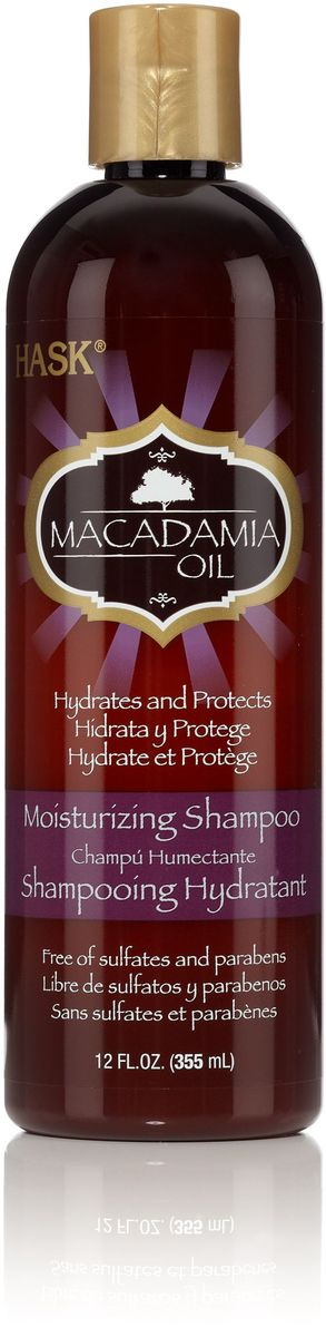 HASK Увлажняющий шампунь с маслом Макадамии, 355 мл biosilk увлажняющий шампунь 355 мл