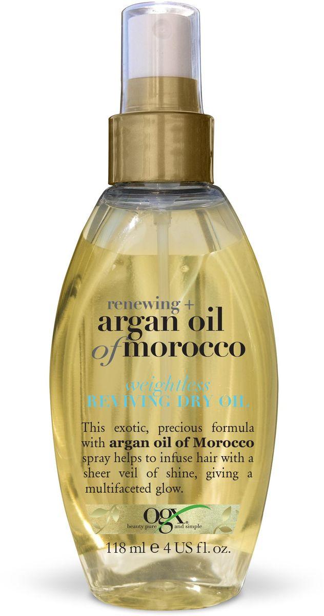 OGX Легкое сухое аргановое масло для восстановления волос, 118 мл. кондиционер ogx аргановое масло марокко 385мл восстанавливающий