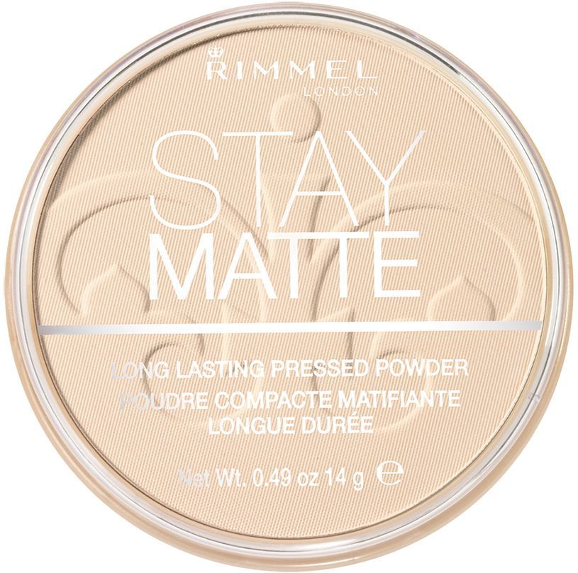 Пудра Rimmel Stay Matte, матирующая, тон 004, 14 г rimmel корректирующий карандаш hide the blemish 004 тон 5 2 мл