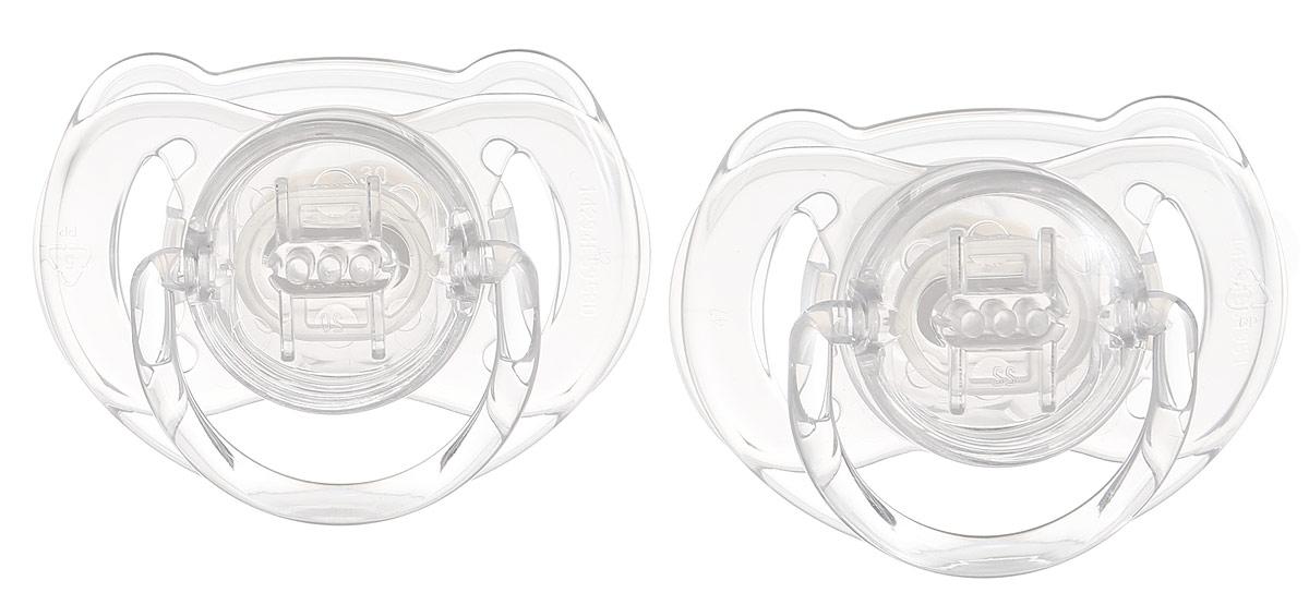Philips Avent Пустышка серия Classic SCF170/22 прозрачная, 2 шт., 6-18 мес. пустышки philips avent scf213 20