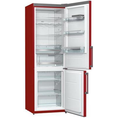 Двухкамерный холодильник Gorenje NRK6192MR, бордовый