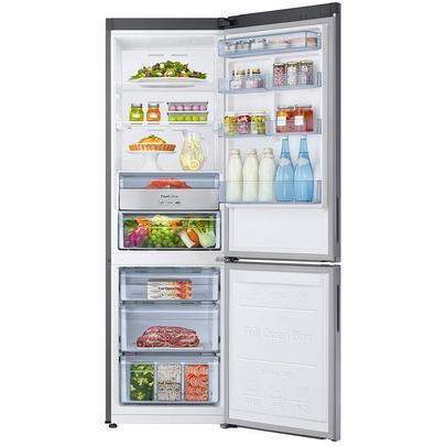 Двухкамерный холодильник Samsung RB34K6220SS/WT, нержавеющая сталь холодильник samsung rh62k60177p wt