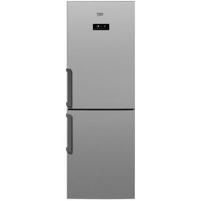 Двухкамерный холодильник Beko RCNK296E21S, серебристый