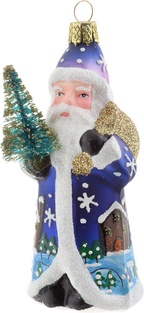 Украшение новогоднее подвесное Winter Wings Дед Мороз с елочкой, высота 8 см украшение декоративное подвесное winter wings фея высота 15 см n181724