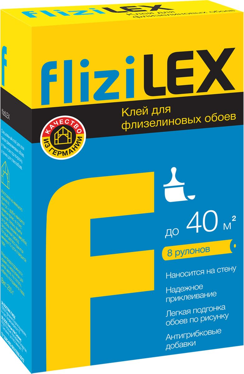 Клей для флизелиновых обоев Lex FliziLex, 0,250 кг клей обойный bostik flizilex для флизелиновых обоев 0 25кг