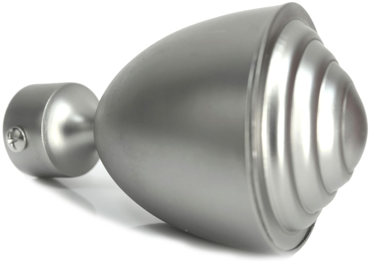Наконечник-заглушка Эскар Кубок, для металлического карниза, цвет: матовый хром, диаметр 25 мм, 2 шт наконечник эскар кубок