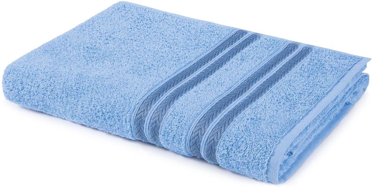 Полотенце Aquarelle Адриатика, цвет: светло-васильковый, 70 х 140 см полотенце махровое aquarelle волна цвет ваниль 70 x 140 см