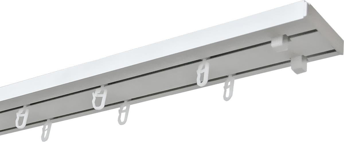 Карниз потолочный Уют Оптима, двухрядный, составной, длина 160 см карнизы и аксессуары для штор уют карниз пиано цвет белый 250 см