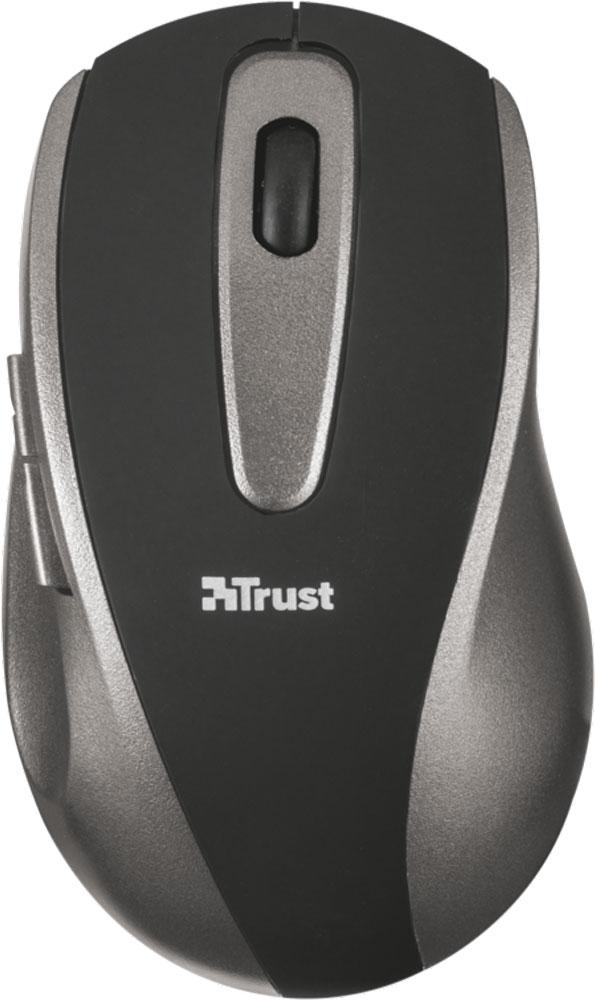 лучшая цена Мышь Trust EasyClick Wireless Mouse, Silver Black