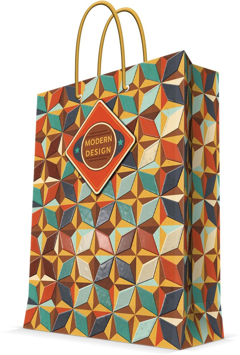 Пакет подарочный Magic Home Модерн, 26 х 32,4 х 12,7 см пакет подарочный а4 26 32 12 7см новогодние часыбумажный с ламинацией 140 г м2 75312