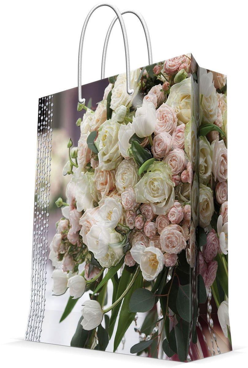 Пакет подарочный Magic Home Свадебный букет, 26 х 32,4 х 12,7 см пакет подарочный а4 26 32 12 7см новогодние часыбумажный с ламинацией 140 г м2 75312