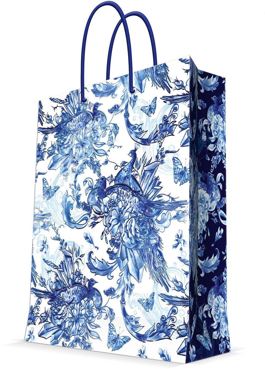Пакет подарочный Magic Home Голубые цветы, 26 х 32,4 х 12,7 см коробка голубые цветы magic home
