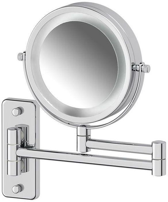 Зеркало косметическое Defesto Pro, настенное, с подсветкой косметическое зеркало на кронштейне heritage aha16
