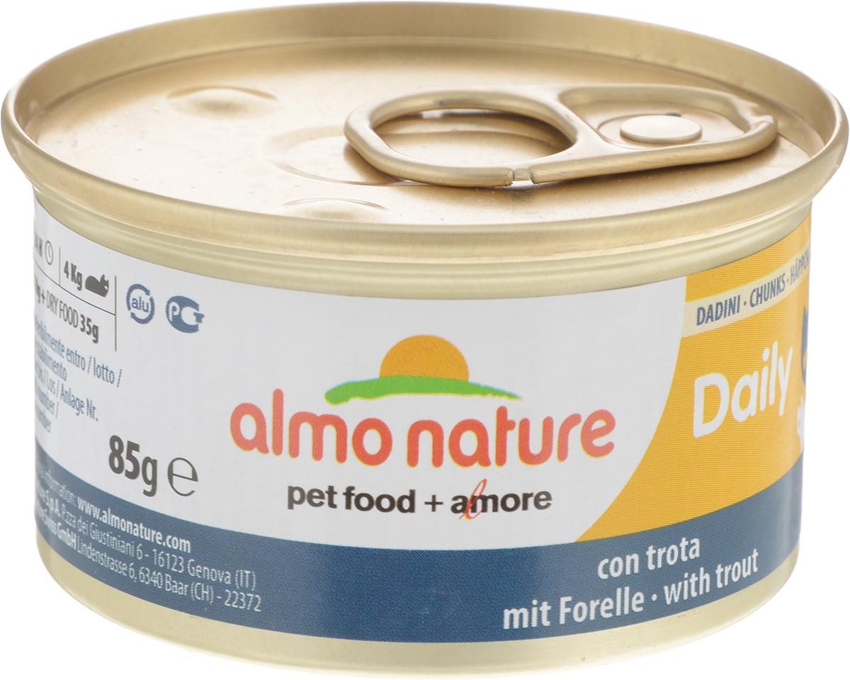 Фото - Консервы для кошек Almo Nature Daily Menu, с форелью, 85 г консервы для кошек almo nature daily menu с форелью 85 г