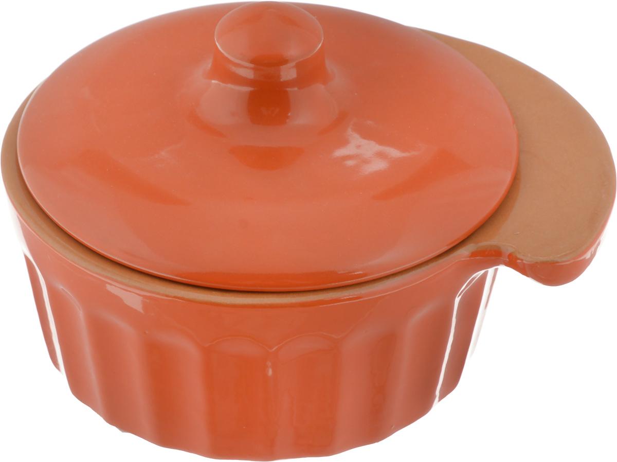 Кокотница Борисовская керамика Ностальгия, цвет: ярко-оранжевый, 200 мл кокотница борисовская керамика ностальгия цвет оранжевый 200 мл рад14457899