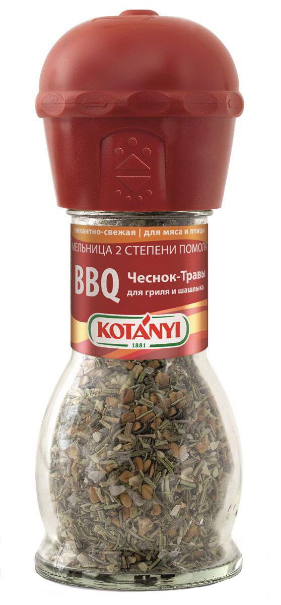 Kotanyi BBQ чеснок-травы приправа для гриля и шашлыка, 40 г приправа для шашлыка