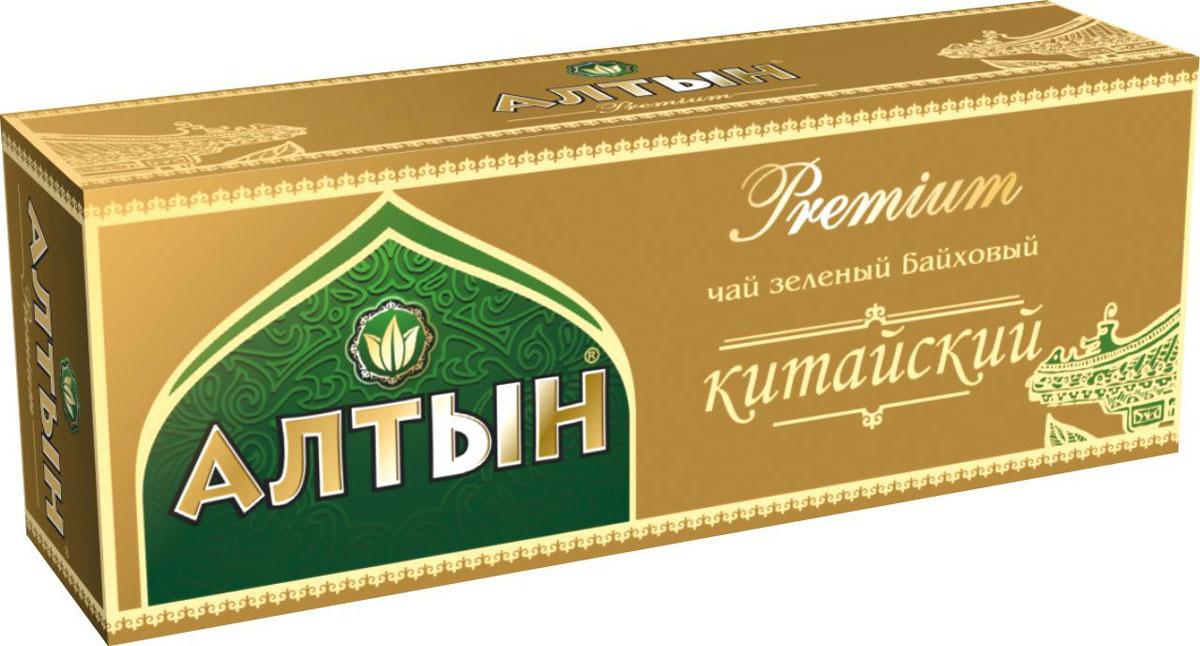Алтын Premium Китайский зеленый чай в пакетиках, 25 шт соннентор чай зеленый отборный китайский 100г