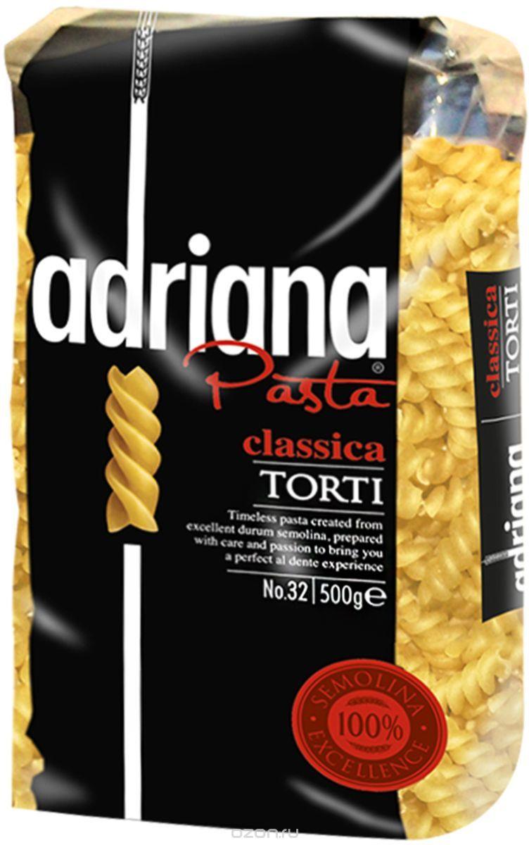 Adriana Pasta Classica Torti завитушки, 500 г adriana pasta цельнозерновые спагетти 500 г