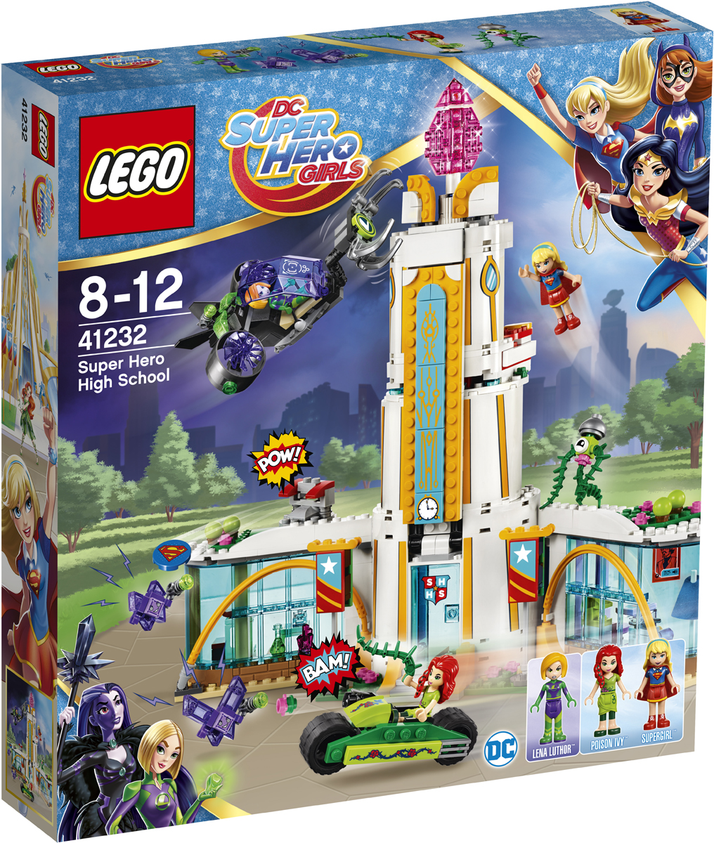 LEGO DC Super Hero Girls 41232 Школа супергероев Конструктор lego super hero girls 41238 конструктор лего супергёрлз фабрика криптомитов лены лютор