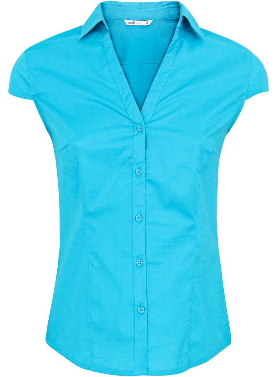 Блузка oodji Ultra блузка женская oodji ultra цвет белый голубой 13k03005 1 46440 1070o размер 36 42 170