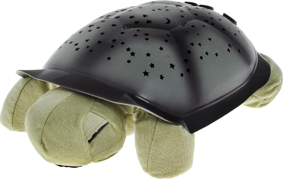 Ночник-проектор Эврика Черепаха, цвет: зеленый94888Ночник-проектор Эврика Черепаха - это оригинальный ночник, который еще и проектирует созвездия в 3 разных тонах. Включив проектор, вы увидите, как на стенах и потолке вашей комнаты появляются удивительные созвездия. Изделие выполнено в виде мягкой игрушки - черепашки, с пластиковым панцирем. Панцирь разделен на 7 различных сегментов, соответствующих семи различным созвездиям: Орион, Дракон, Малая Медведица, Созвездие Большого Пса, Пегас, Близнецы, Большая Медведица. Изображение каждого отдельного созвездия имеет соответствующий номер. Это сделано для того, чтобы помочь найти его на панцире черепашки и на потолке. На панцире расположена кнопка включения и выключения светильника, а также кнопки для включения цветов (синий, янтарный, зеленый). Если нажать кнопку L1 2 раза - три цвета будут переливаться по очереди, если нажать 3 раза - включаются все 3 цвета сразу. Мягкое мерцание и неяркий свет помогают детям успокоиться и быстрее заснуть. Автоматический таймер отключает светильник через 60 минут (при условии, если ни одна из кнопок в течение этого времени не нажималась). Есть возможность питания от внешнего источника питания (4,5 Вольт, 150 Ма), например, от универсального адаптера питания (приобретается отдельно). Ночник работает от 3 батареек типа ААА (в комплект не входят). Рекомендуем!