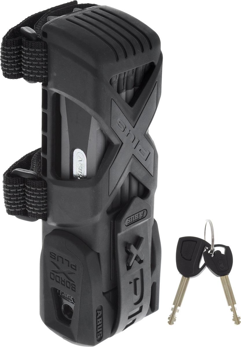Велозамок Abus Bordo Granit X-Plus 6500/85, с ключами, цвет: черный, серый