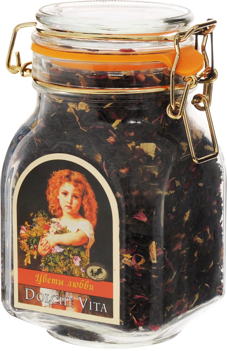 Dolche Vita Цветы любви элитный черный листовой чай, 160 г dolche vita аристократический элитный черный листовой чай 160 г