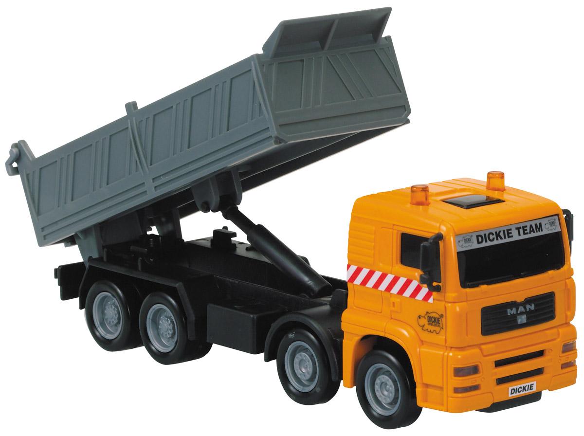 Dickie Toys Самосвал MAN цвет оранжевый серый цены онлайн
