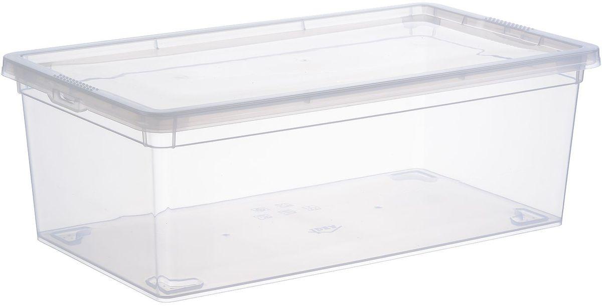 Ящик Idea, цвет: прозрачный, 5,5 л jd коллекция дефолт обновление раздела ящик для хранения небольшого ящика 3