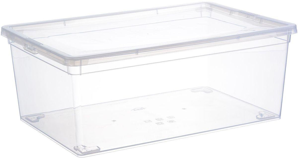 Ящик для хранения Idea, цвет: прозрачный, 25 х 37 х 14 см. М 2352 jd коллекция дефолт обновление раздела ящик для хранения небольшого ящика 3