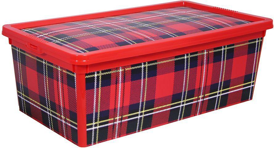 Ящик Idea Деко. Клетка, 5,5 л jd коллекция дефолт обновление раздела ящик для хранения небольшого ящика 3