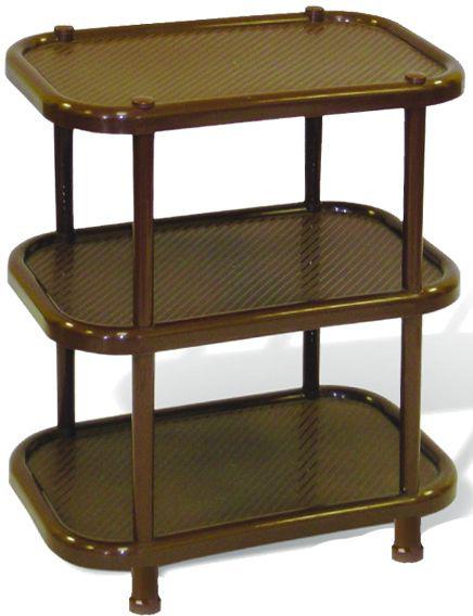 Этажерка для обуви Idea, 3-секционная, цвет: коричневый, 30,7 х 49,2 х 51 см этажерка для обуви idea универсал 3 х секционная цвет коричневый 48 х 30 х 51 см