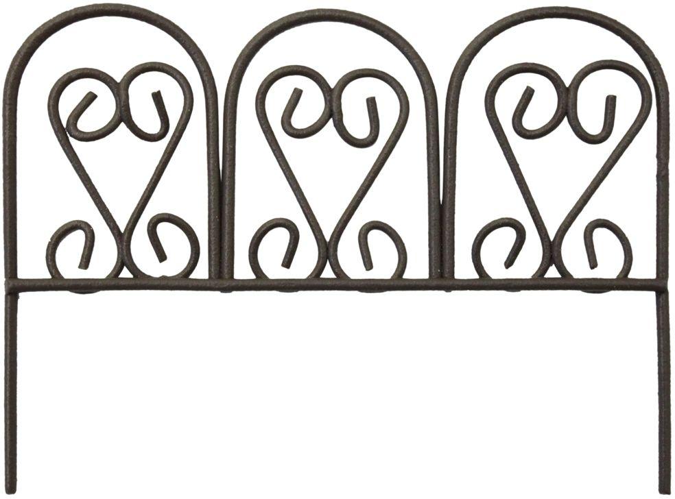 Декоративное украшение-миниатюра Астра Ажурный забор, цвет: коричневый украшение декоративное музыка ветра цвет коричневый 3330041