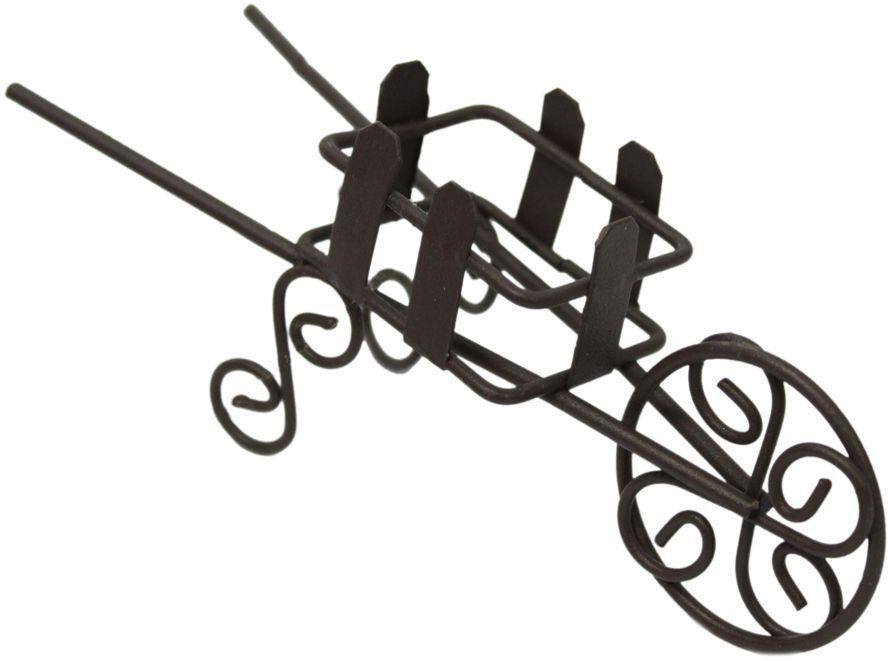 Декоративное украшение-миниатюра Астра Тележка, цвет: коричневый украшение декоративное музыка ветра цвет коричневый 3330041