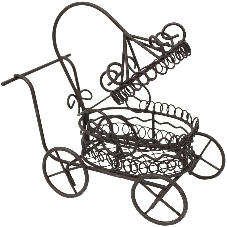 Декоративное украшение-миниатюра Астра Коляска, цвет: коричневый украшение декоративное музыка ветра цвет коричневый 3330041