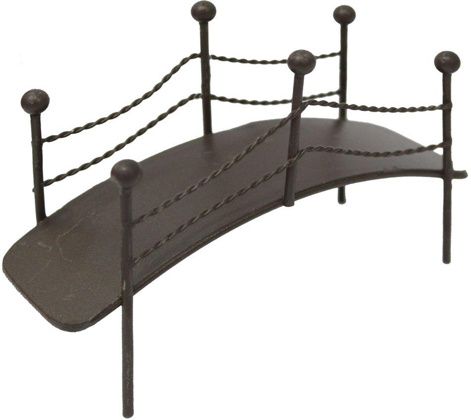 Декоративное украшение-миниатюра Астра Мост, цвет: коричневый украшение декоративное музыка ветра цвет коричневый 3330041