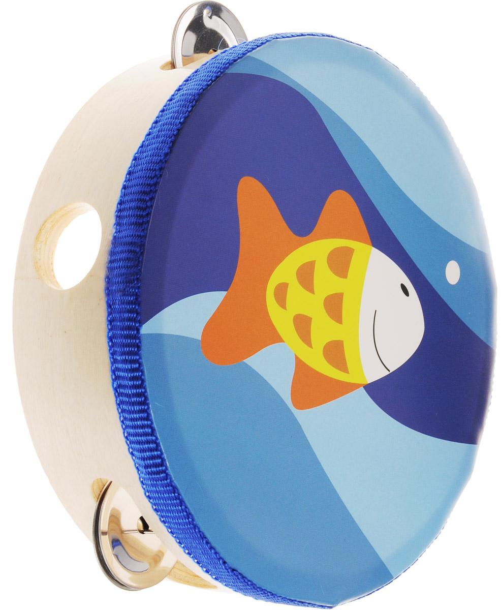 цена на Мир деревянных игрушек Бубен Рыбка