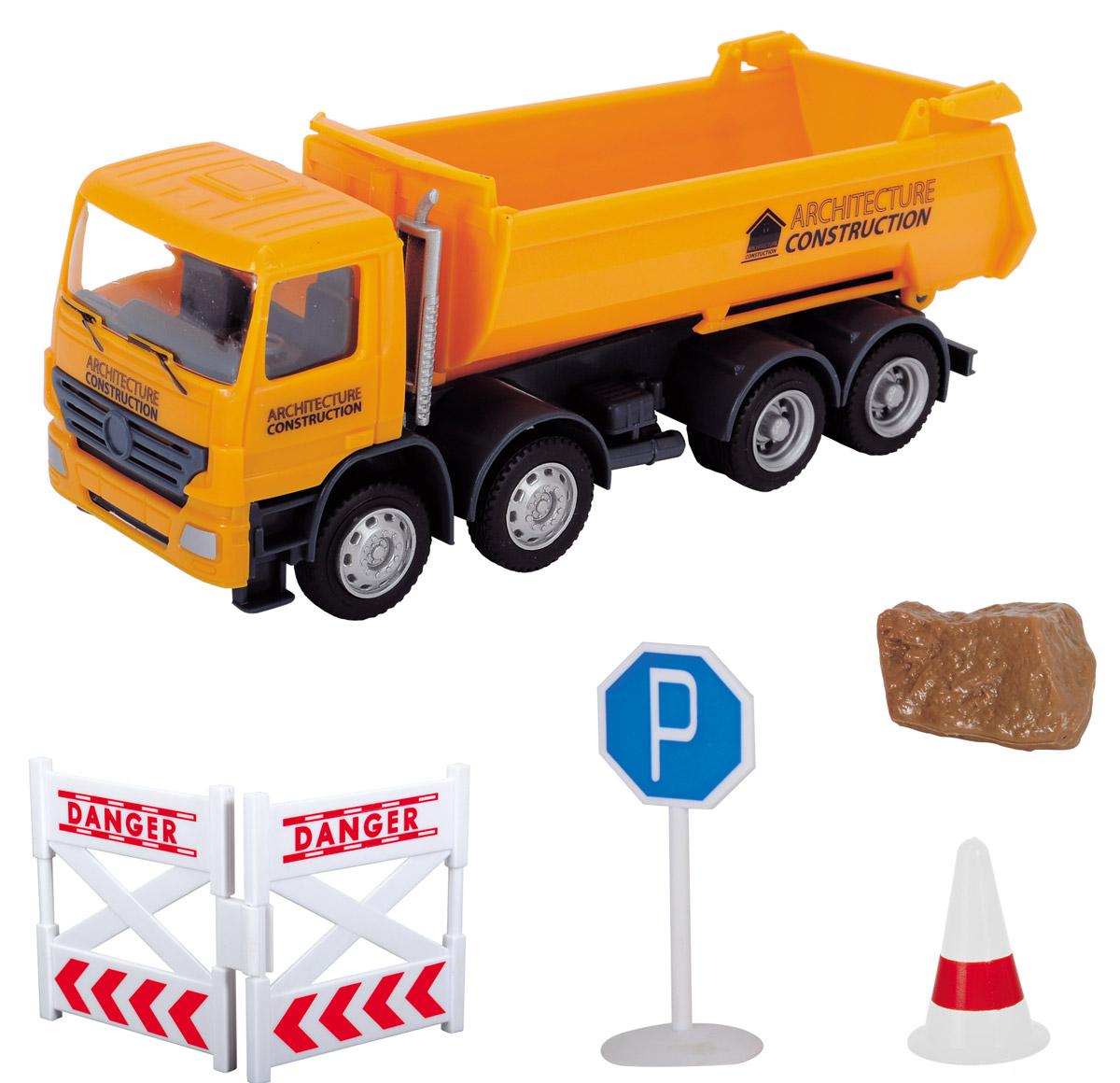 Dickie Toys Самосвал Road Works цены онлайн