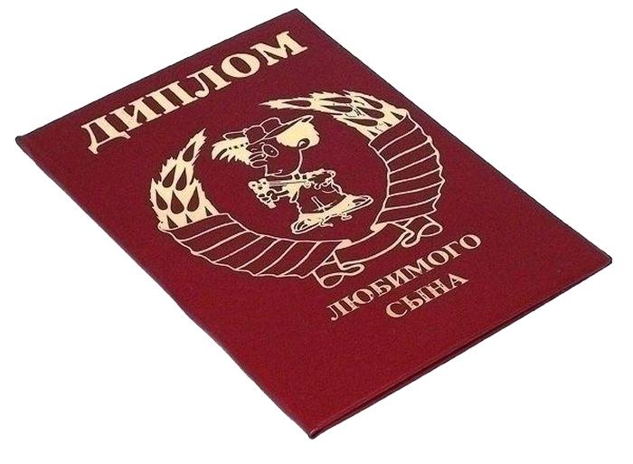 Диплом сувенирный Эврика Любимого сына, A6, цвет: красный. 94878 диплом сувенирный эврика замечательной сватьи a6 цвет красный 93385