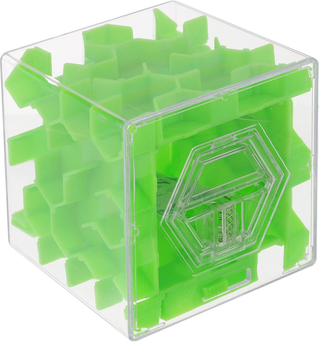 Копилка-головоломка Эврика Лабиринт, цвет: зеленый головоломка эврика лабиринт сфера red 98723