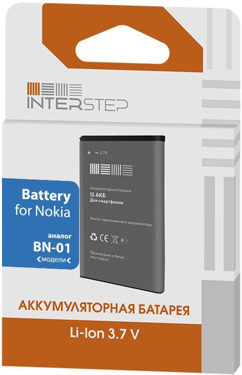 Interstep аккумулятор - аналог Nokia BN-01 (1450 мАч)