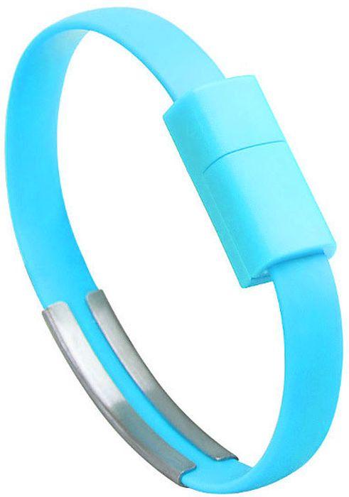 IQ Format, Blue кабель-браслет USB-micro USB