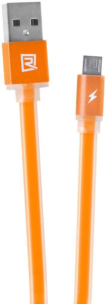 Кабель Remax USB с microUSB, длина 1 метр, оранжевый remax 160 yellow кабель usb microusb