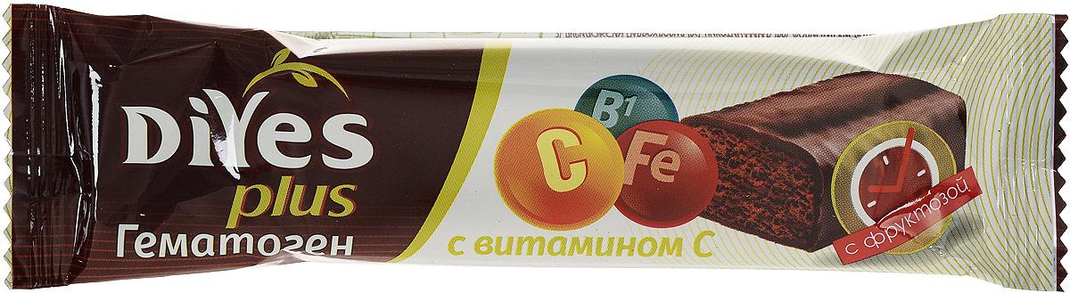 Фото - ДиYes Plus Гематоген классический с витамином C и фруктозой, 35 г ego kids гематоген детский с витаминами лиза 35 г